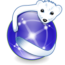 Iceweasel icon, in blue-violet