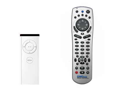 Left: very simple remote. Right: remote with a lot of buttons